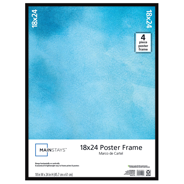 mainstays 18 x24 basic poster frame black