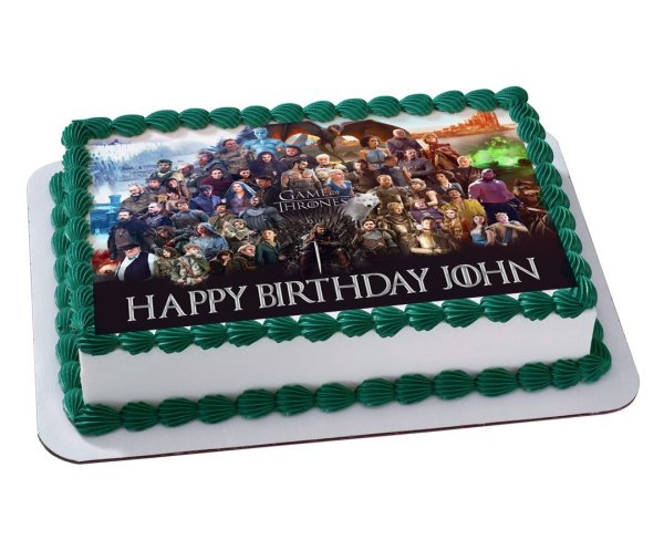 Game Of Thrones Quarter Sheet Edible Birthday Cake Topper Personalized 1 4