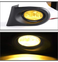 fog lights for acura rsx 2002 2003 2004 fog lights real glass yellow lens with bulbs wiring harness 1 year warranty walmart com [ 1100 x 1100 Pixel ]