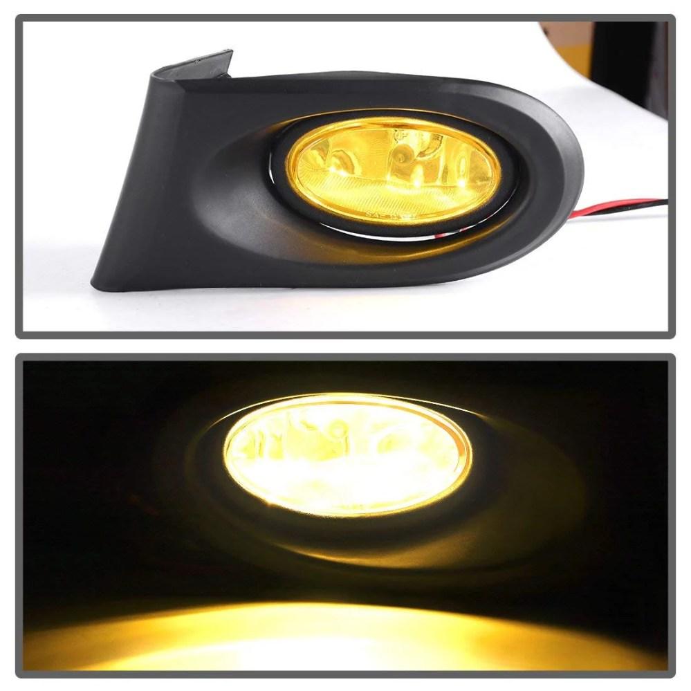 medium resolution of fog lights for acura rsx 2002 2003 2004 fog lights real glass yellow lens with bulbs wiring harness 1 year warranty walmart com