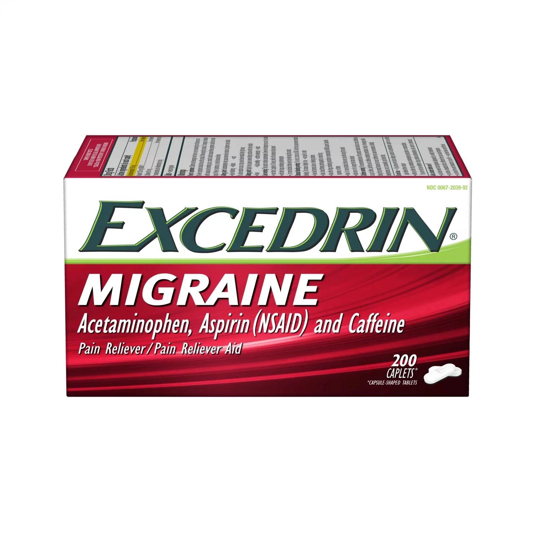 Excedrin Migraine for Migraine Headache Relief Caplets ...