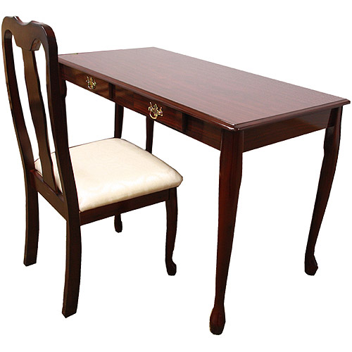 Queen Anne Writing Desk and Chair Value Bundle Cherry