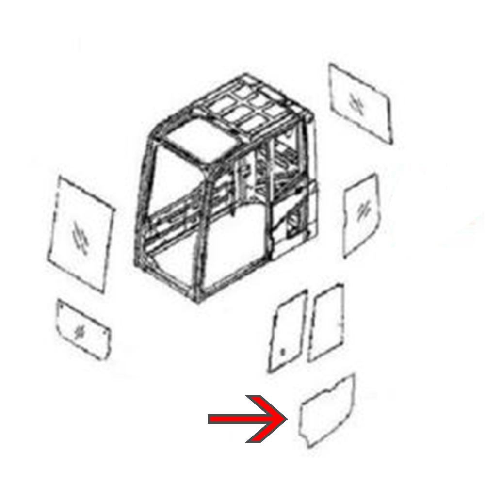 22B-54-16150 Lower Door Glass Fits Komatsu Excavator