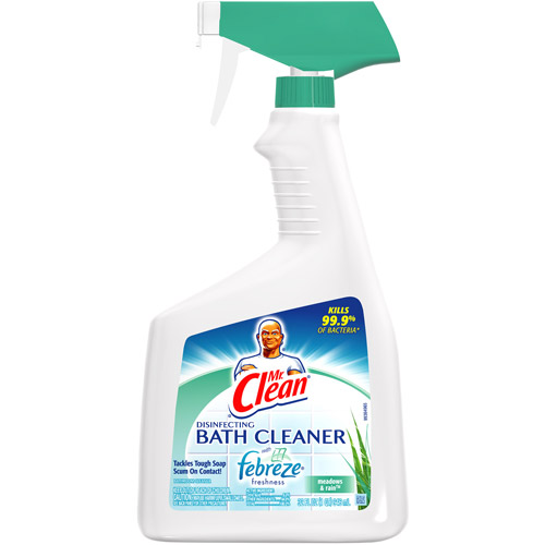 Mr Clean Disinfecting Bath Cleaner With Febreze Fresh Meadows And Rain Scent 32 fl oz