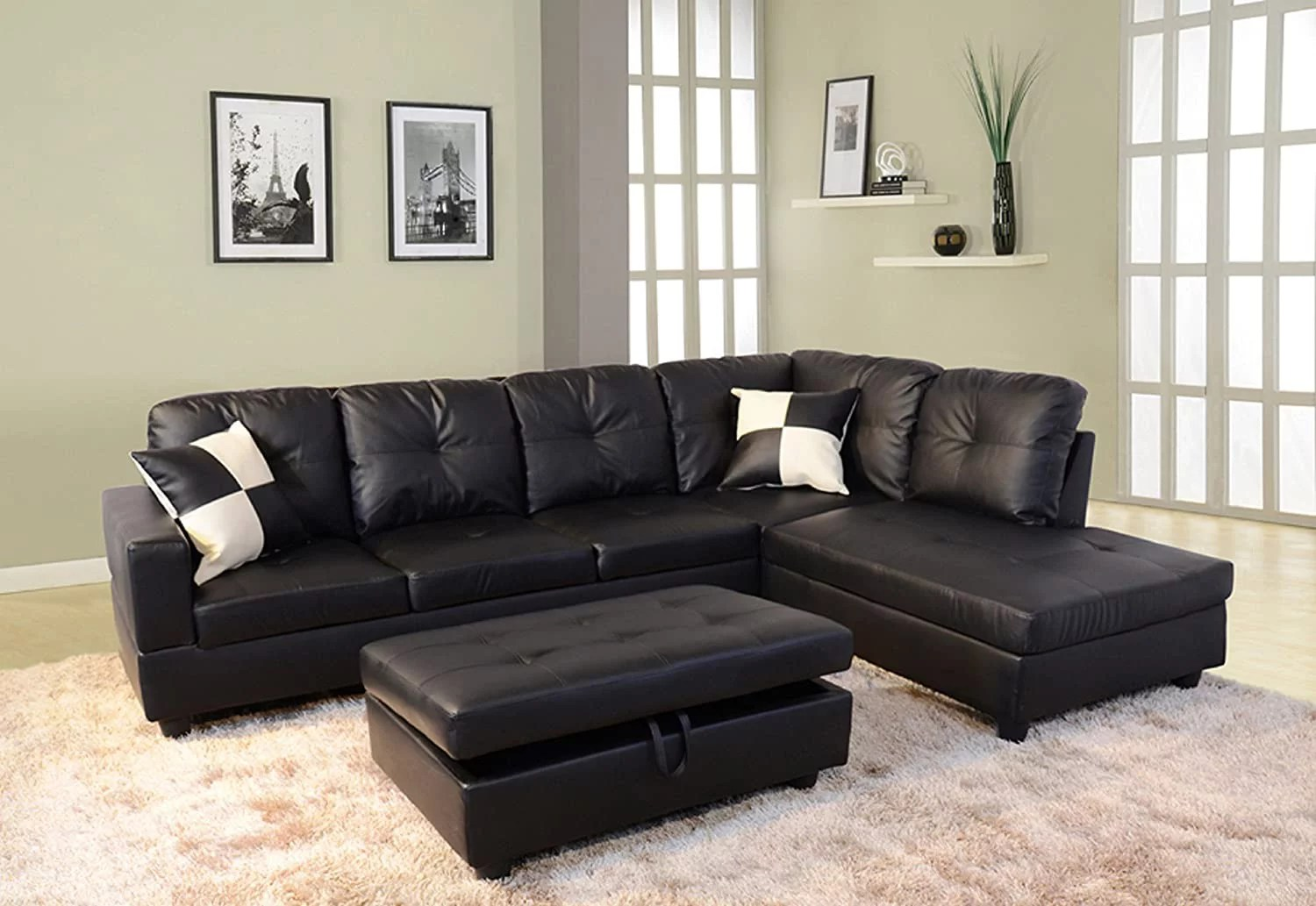 dae right facing sectional sofa l shape faux leather sectional sofa couch set for living room furniture