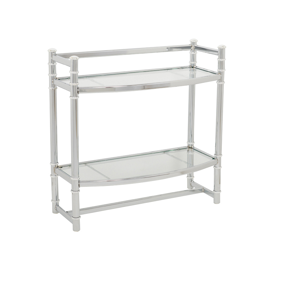 Glass Shelves Bathroom Zenna Home Wall Shelf In Chrome With Tempered Glass Shelves