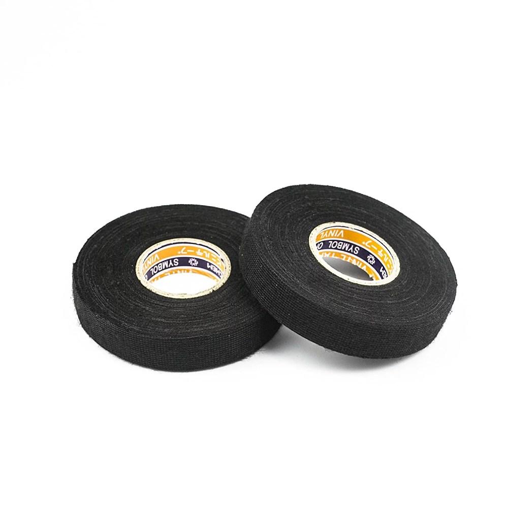 medium resolution of black fuzzy fleece interior wire loom harness tape car wire harness tape for vw audi mercedes bmw 19 mm x 15 metersset of walmart com