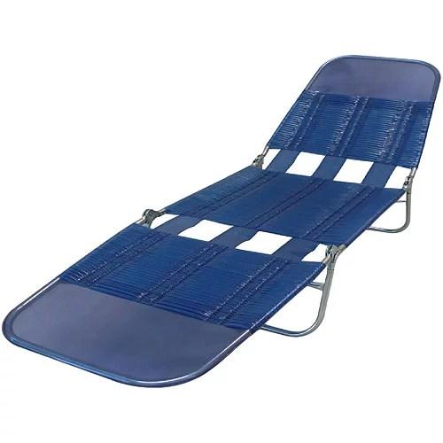 Mainstays PVC Lounge Chair, Blue Streak