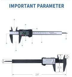 huppin s 150mm 6inch lcd digital electronic carbon fiber vernier caliper gauge micrometer walmart com [ 1000 x 1000 Pixel ]