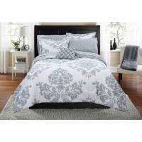 Mainstays Classic Noir Queen Bed in a Bag Coordinating ...