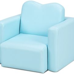 Foldable Wooden Sofa Set Chaise Bed Melbourne Ghp Blue Wood Frame Pvc Sponge Multi Functional Separable Kids Walmart Com