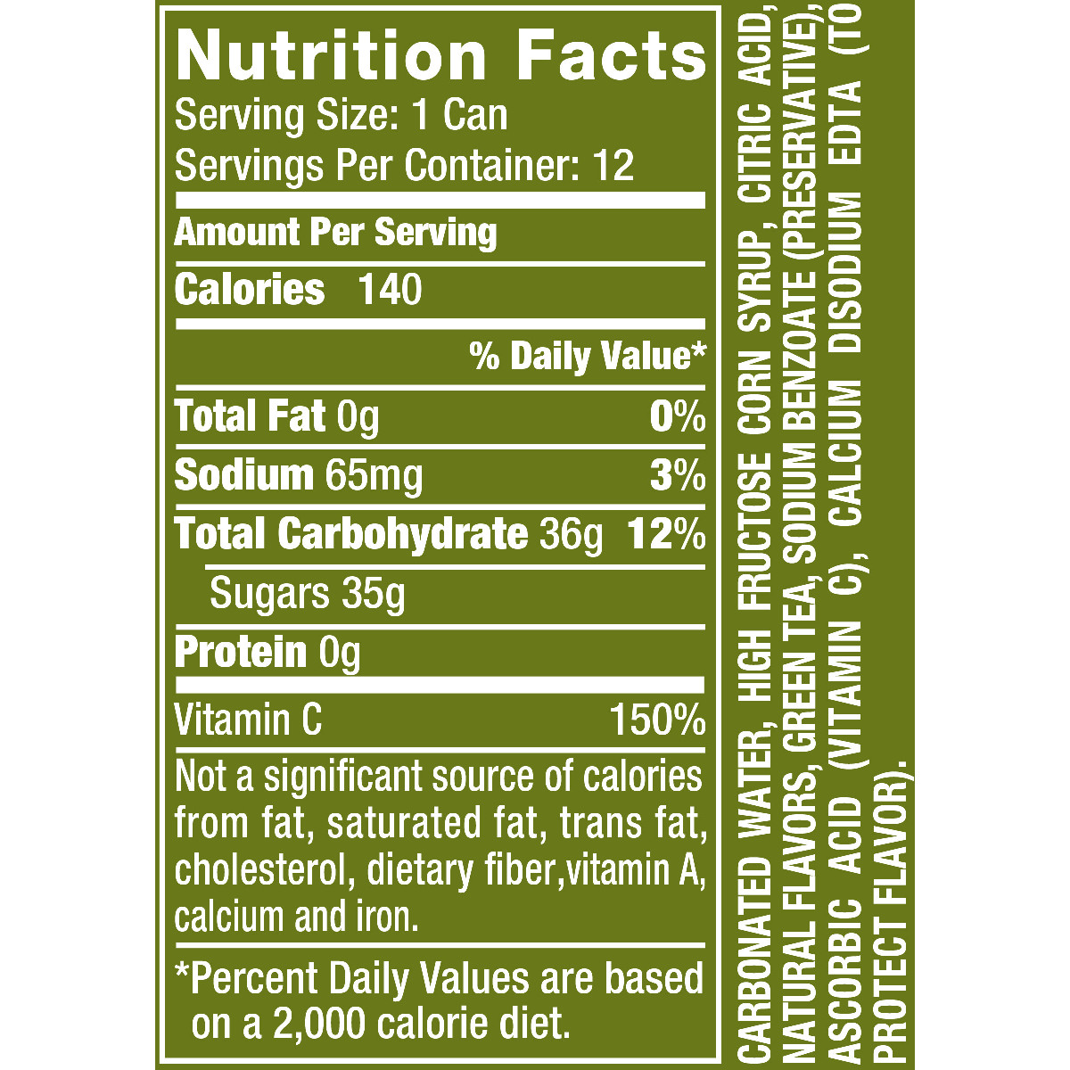 Vernors Ginger Ale Nutrition Facts  Besto Blog