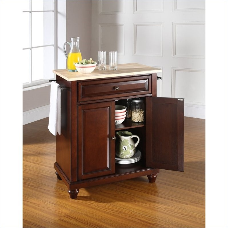 crosley kitchen island pictures of cabinets furniture cambridge natural wood top mahogany qty