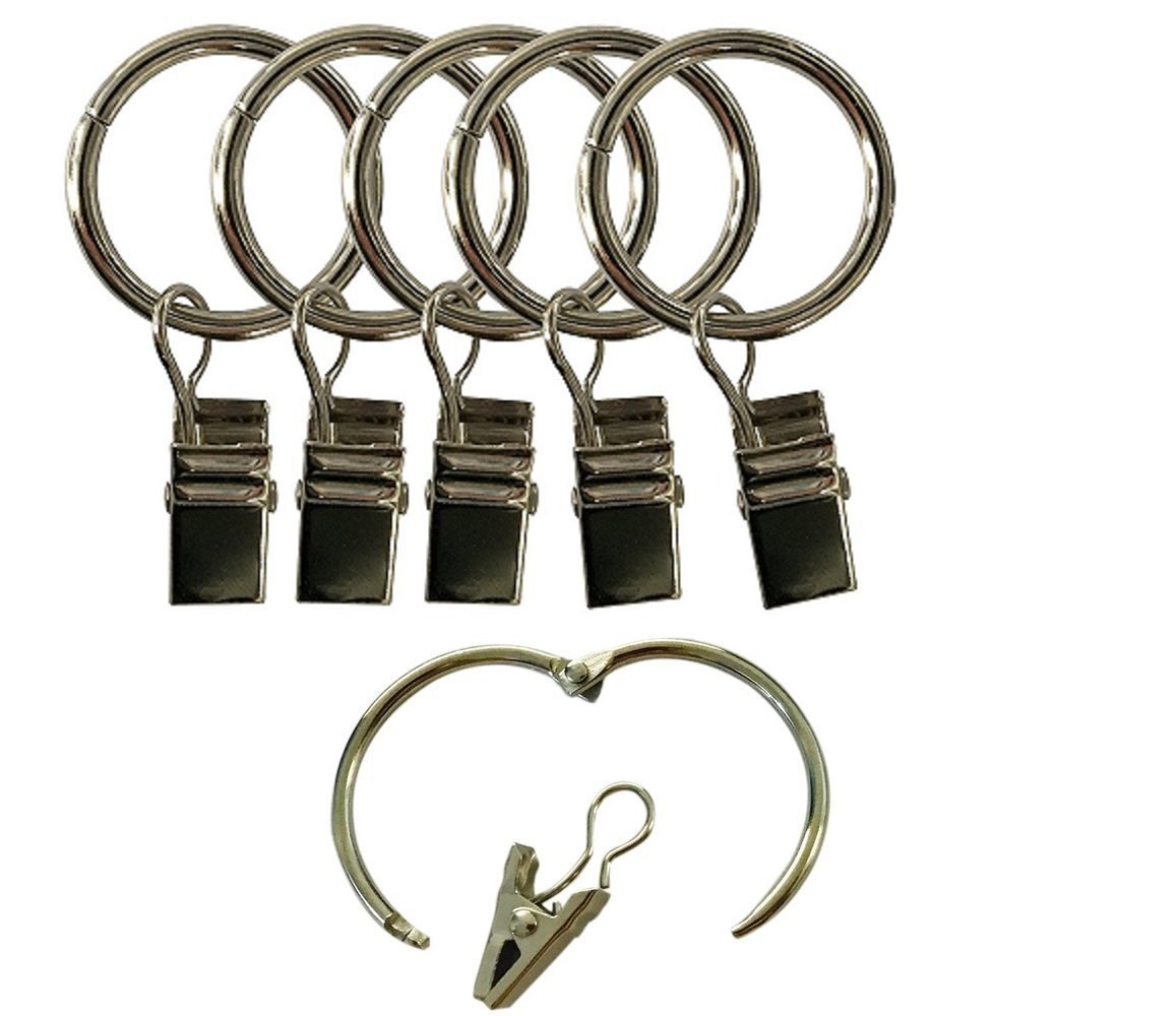easy2hang curtain clip rings curtain hooks openable rings 14pack