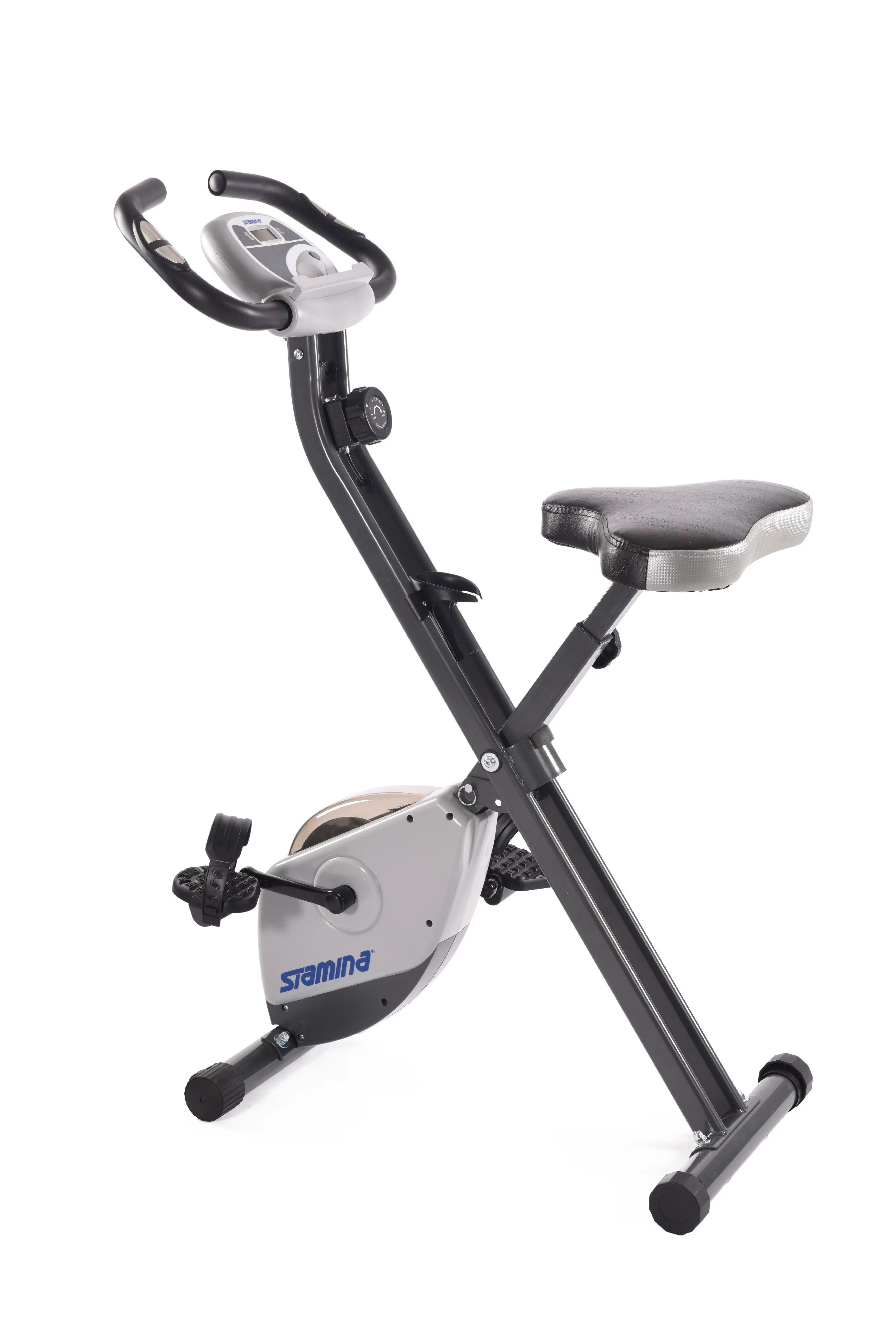Stamina Cardio Folding Exercise Bike with Heart Rate ...