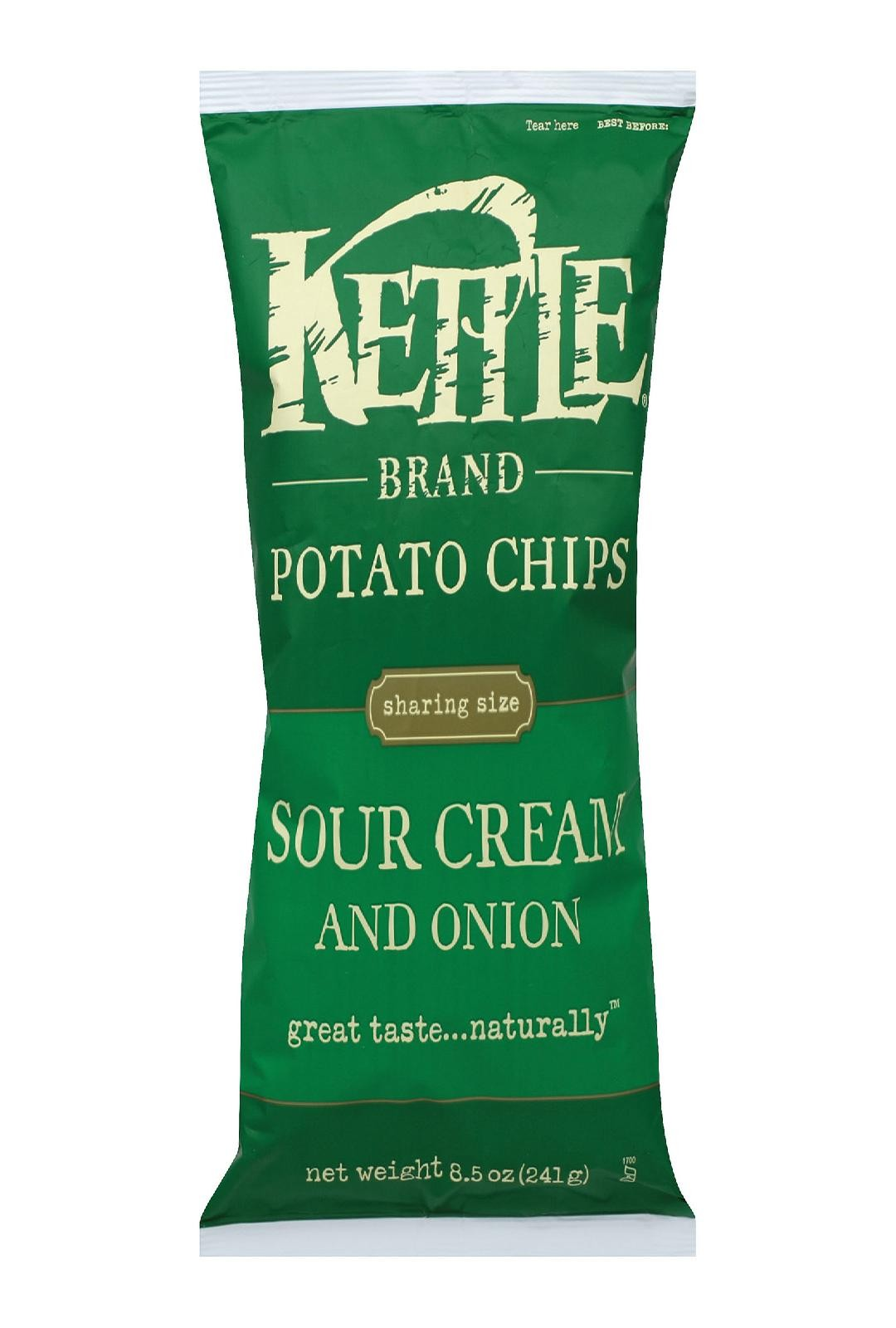 Kettle Brand Potato Chips Sour Cream And Onion pack Of