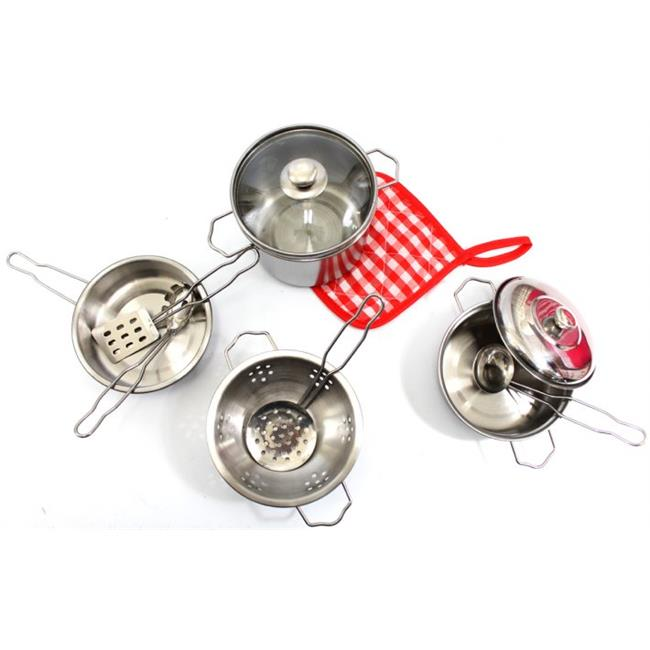kitchen pots antiqued cabinets az trading import ps15b cookware metal pans playset 22 x 16 18 in