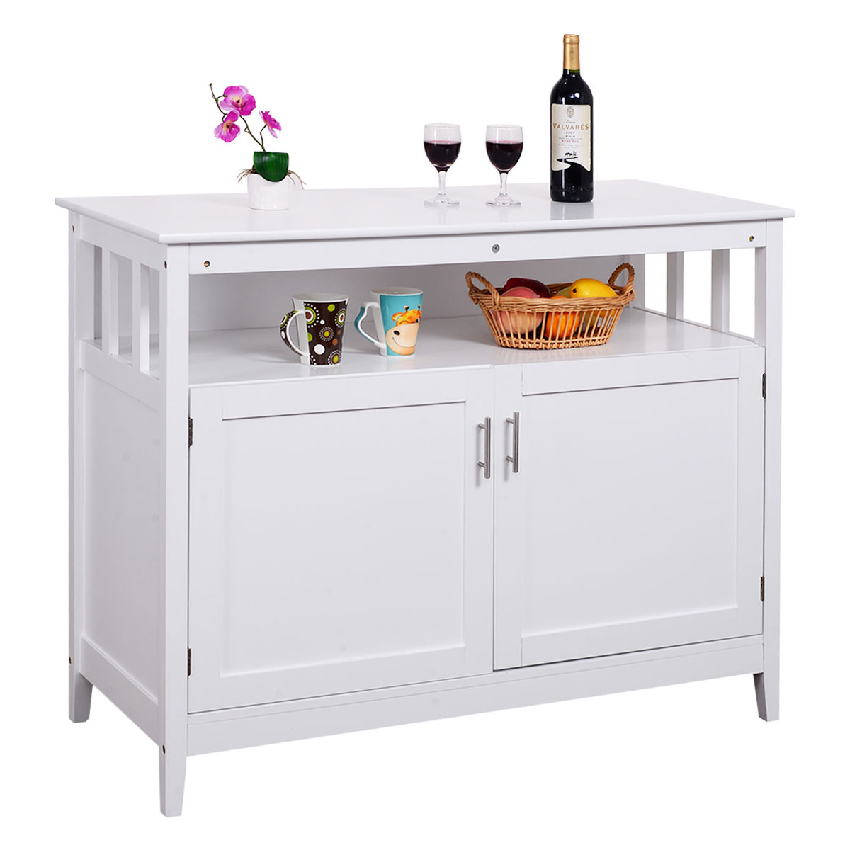 kitchen buffet storage cabinet garden windows for buffets at furniture complete