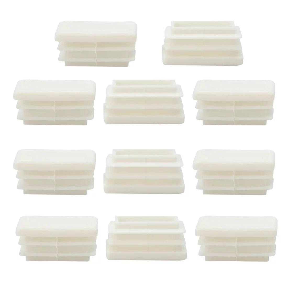 15 x 30mm plastic rectangle ribbed tube