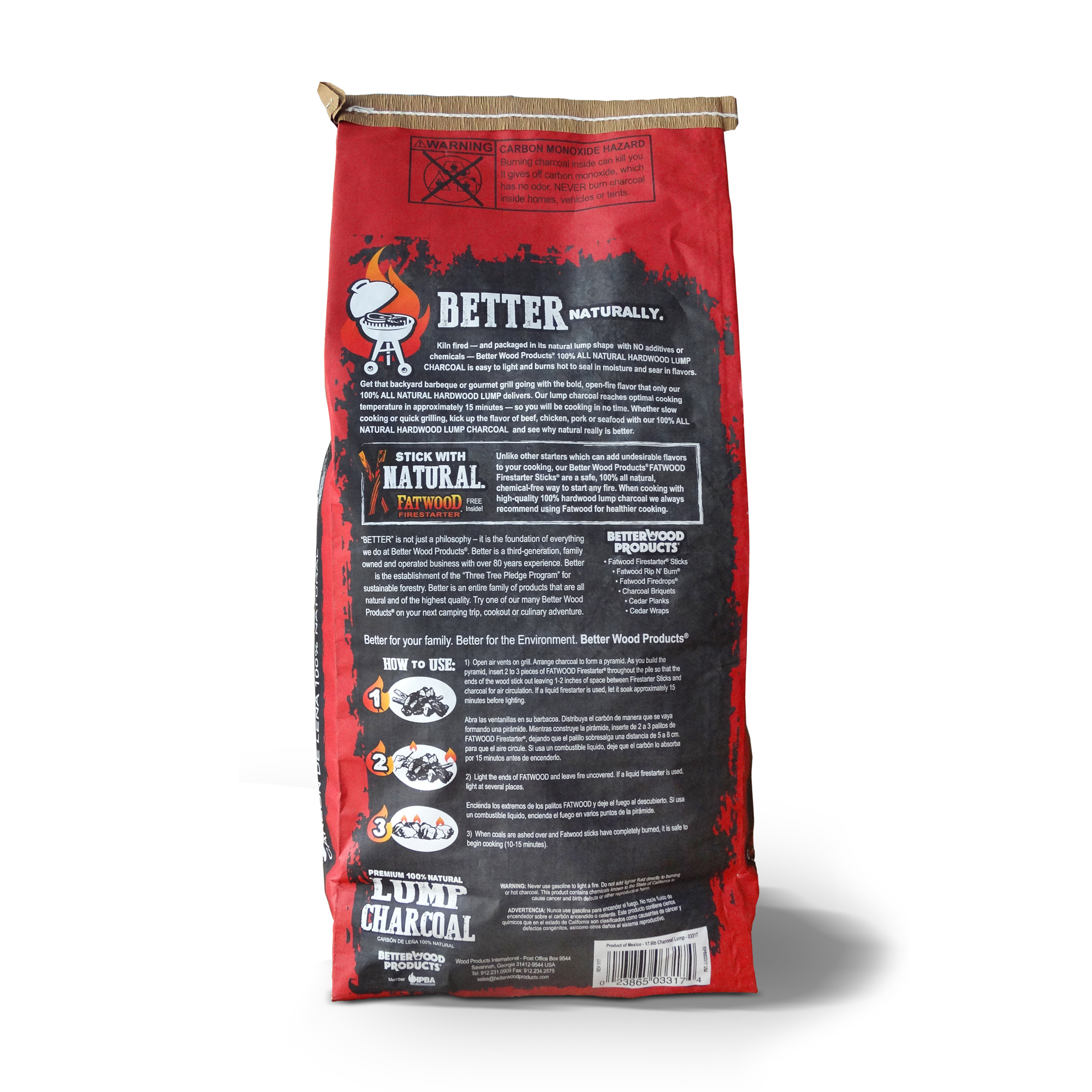 betterwood products 3317 100 all natural hardwood lump charcoal 17 6 pounds