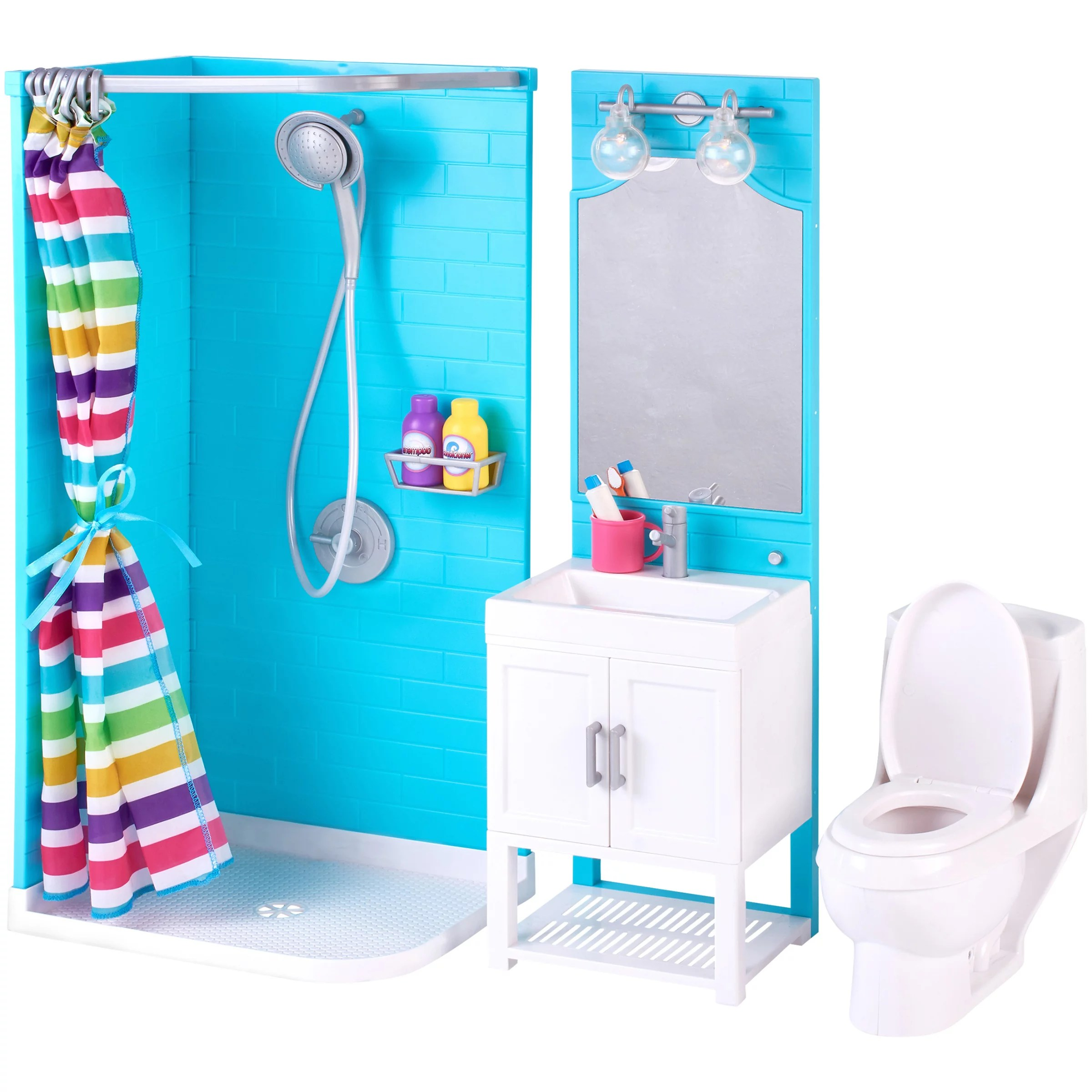 Pretty Bathroom Sets My Life As 17 Piece Bathroom Play Set With Shower And Light Up Vanity