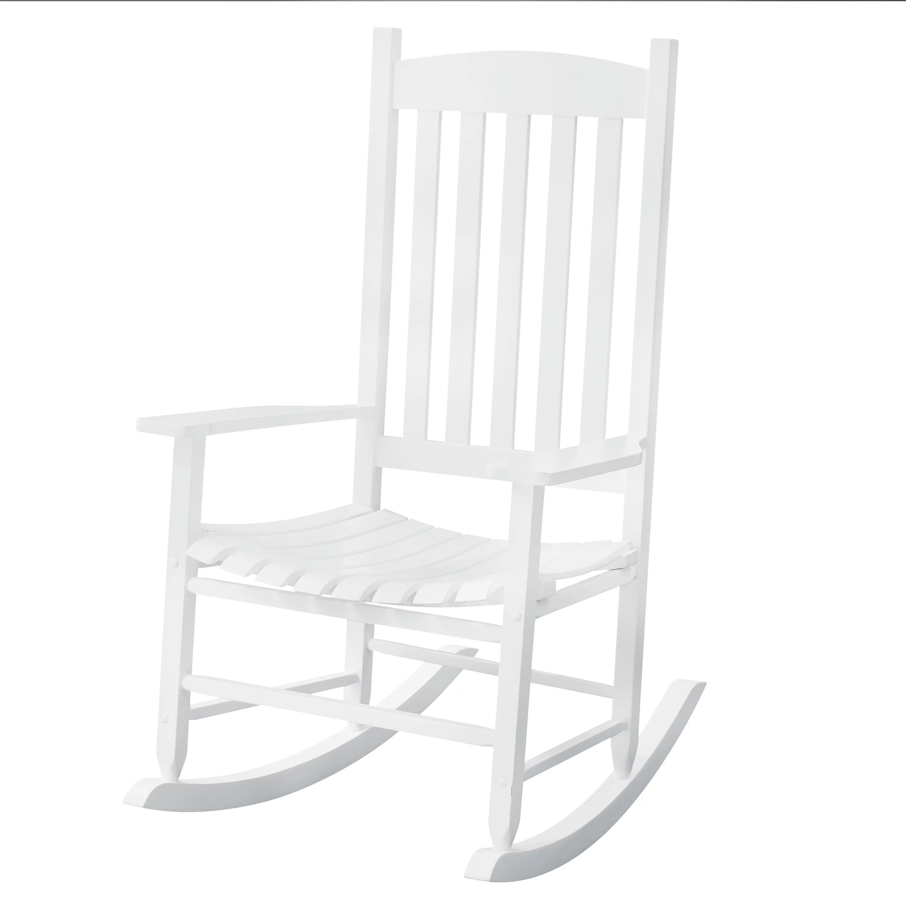 Rocking Chair White Solid Wood Rocking Chair Rocker Porch Indoor Outdoor Patio