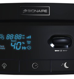 bionaire digital ultrasonic tower humidifier 3 gallon black bul7933 um  [ 2704 x 1240 Pixel ]