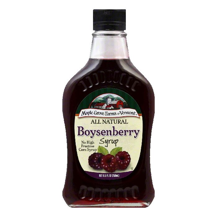 Maple Grove Farms Syrup Natural Boysenberry 85 OZ Pack