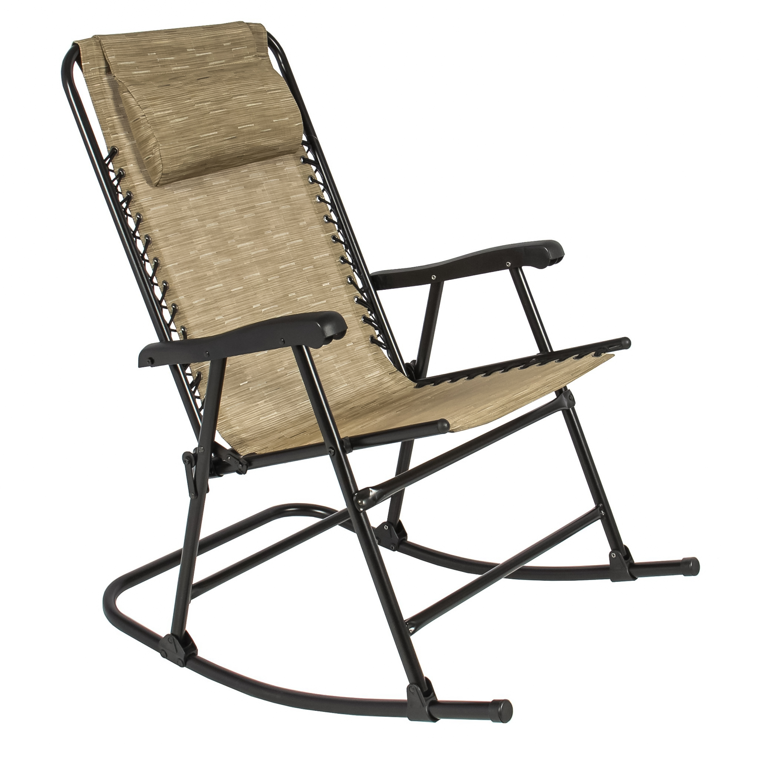 foldable rocking chair how to make a mat best choice products zero gravity patio recliner lounge w headrest pillow beige walmart com