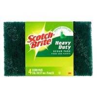 Scotch-Brite Heavy Duty Scour Pads, 4 count - Walmart.com