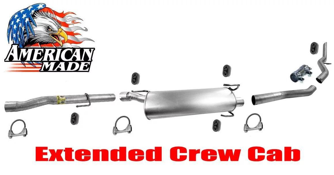 muffler exhaust system for dodge ram 1500 mega cab 5 7l 06 08 extended crew cab walmart com
