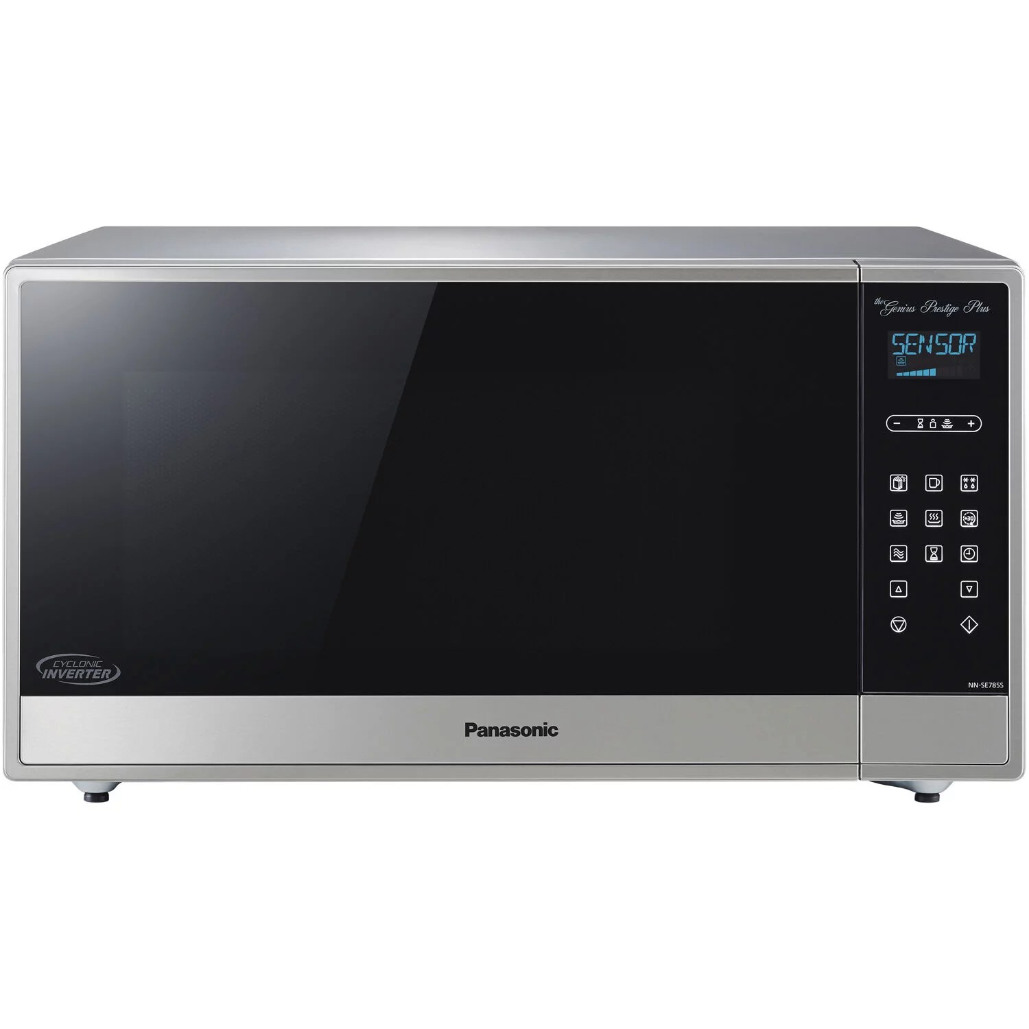 panasonic 1 6 cu ft built in countertop cyclonic wave microwave oven with inverter technology in fingerprint proof stainless steel walmart com