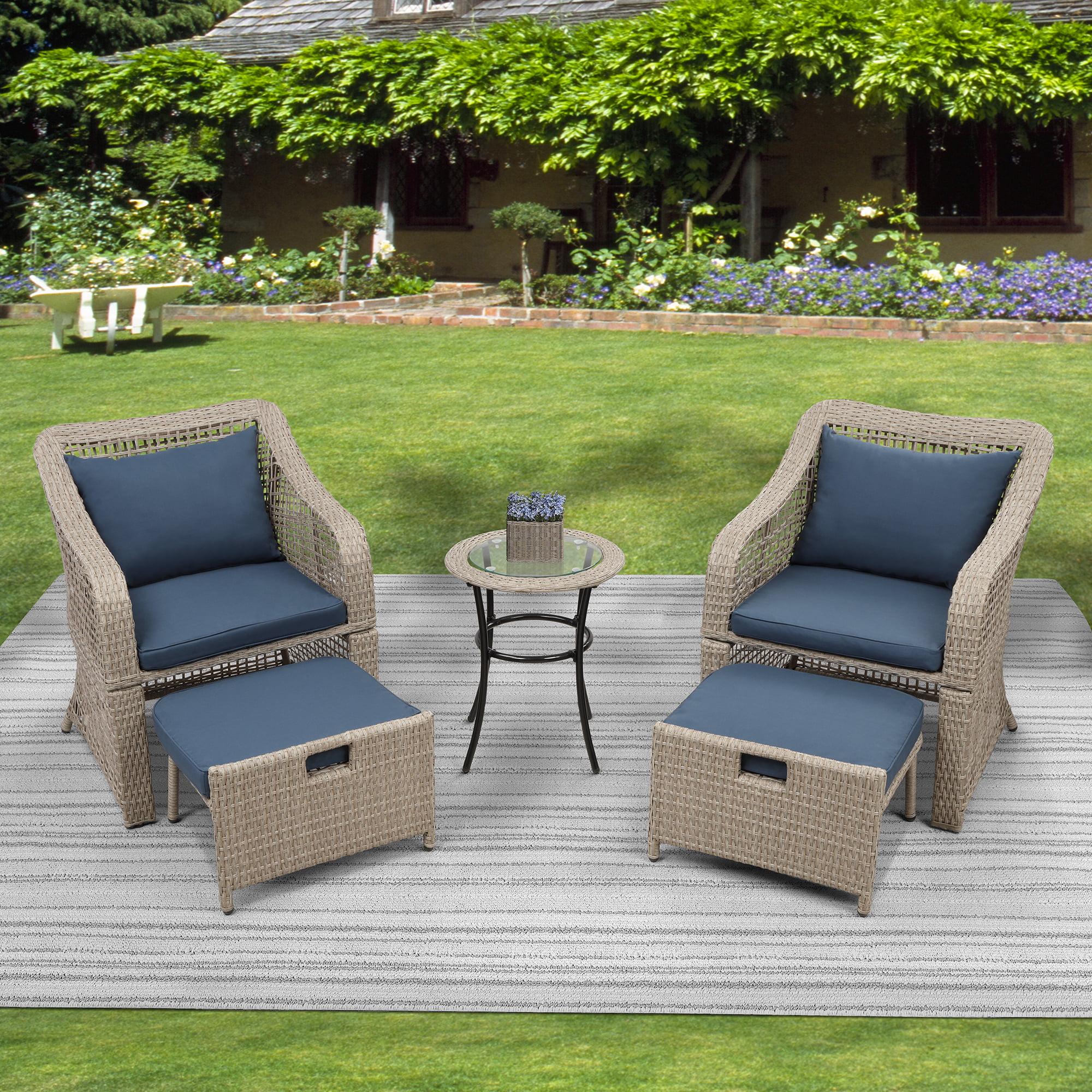 5 piece outdoor patio bistro furniture