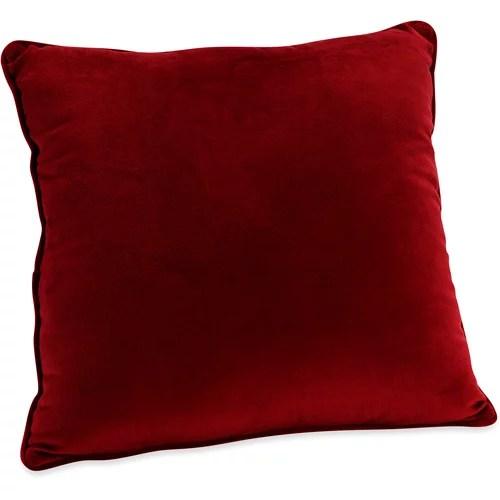 Mainstays Plush Red Sedona Decorative Pillow
