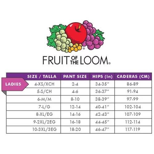 also fruit of the loom women   cotton brief panties pack walmart rh