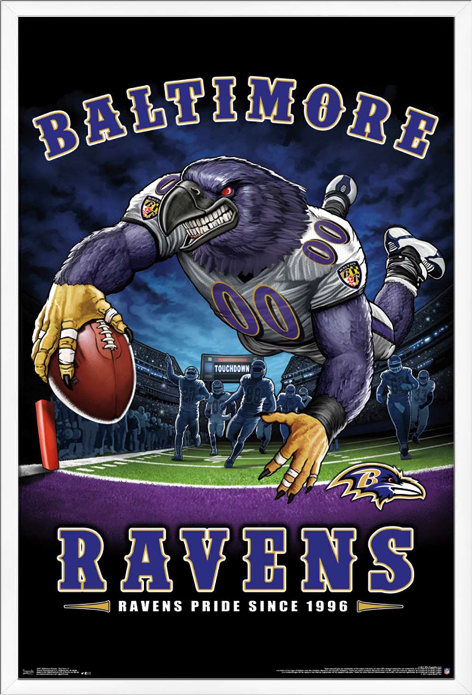 nfl baltimore ravens end zone poster walmart com