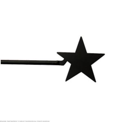 wrought iron star curtain rod 5 inch diameter