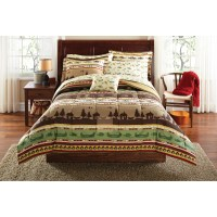 Mainstays Gone Fishing Bed in a Bag Coordinated Bedding ...