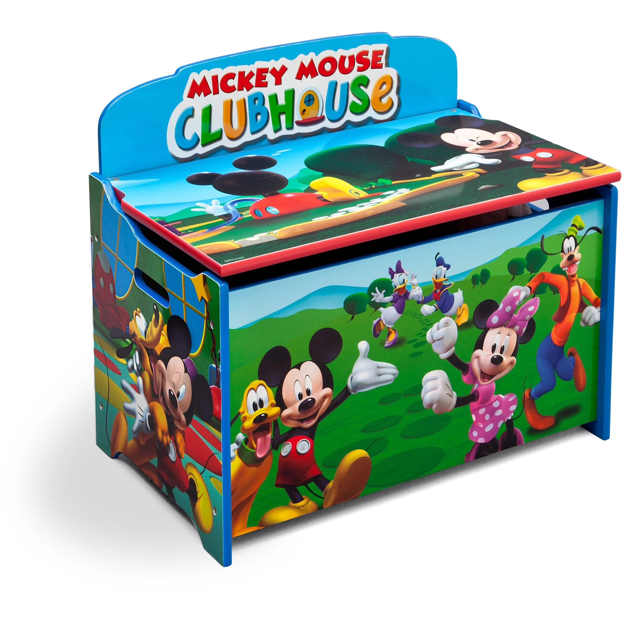 mickey mouse clubhouse table and chair set covers hire plymouth minnie toy organizer. affordable wooden organiser kids storage tidy tray ...