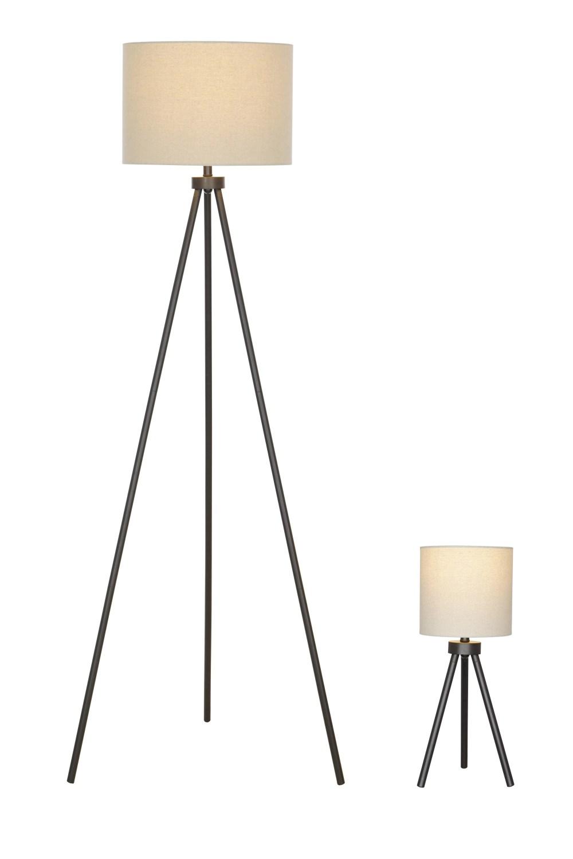 medium resolution of better homes gardens modern tripod table floor lamp set black finish walmart com