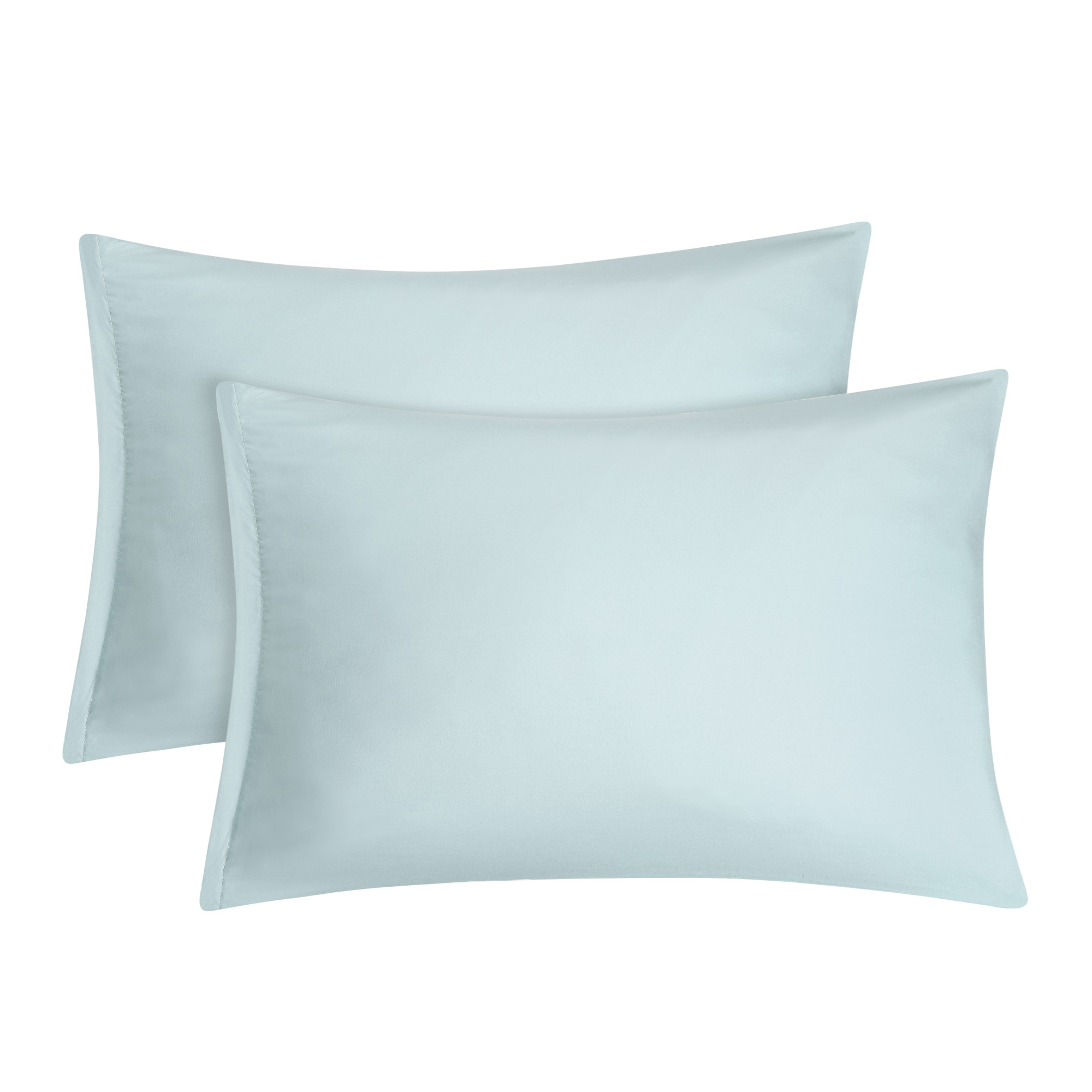 2 pack travel size pillowcases soft 1800 microfiber pillow case with zipper closure spa blue bedding pillow covers