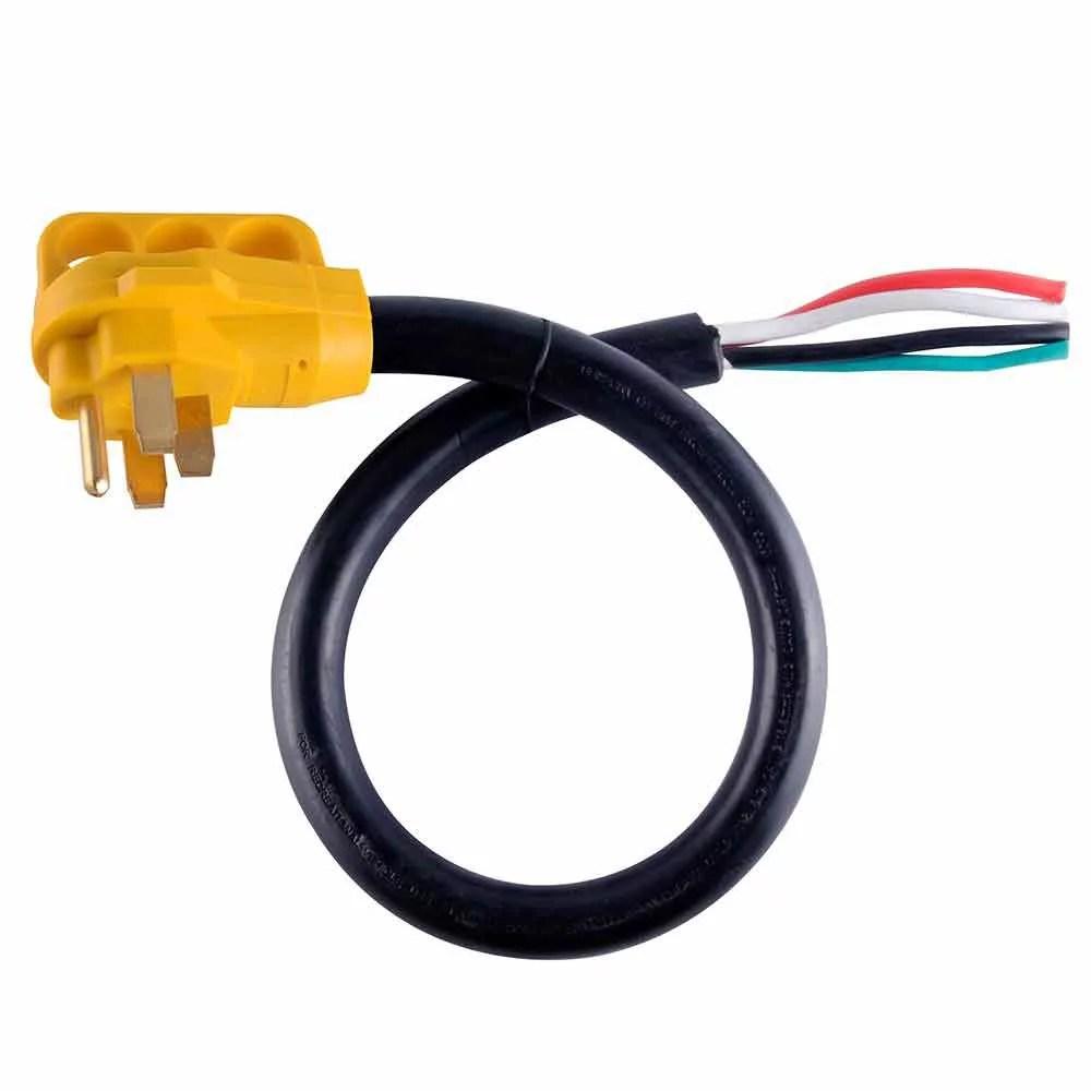 medium resolution of 50 amp 6 3 8 1 gauge nema 14 50p rv cord w 6 loose end plug handle walmart com