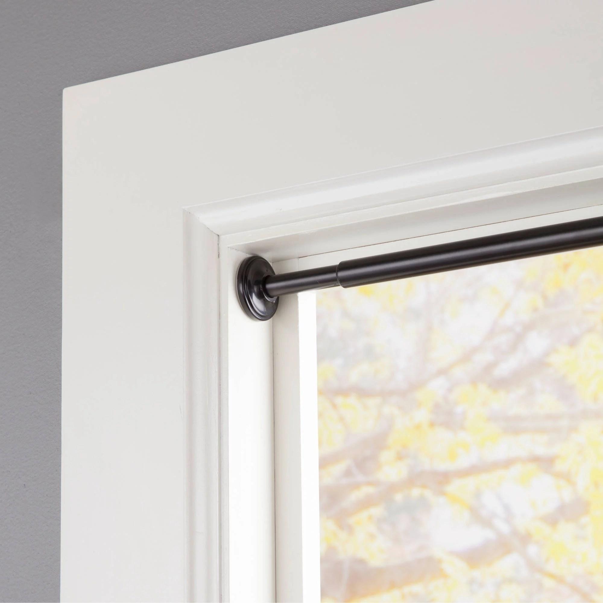 """Eclipse Room Darkening Tension Window Curtain Rod 5 8"""" Diameter"""