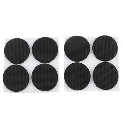 Patio Chair Cushion Covers Walmart Office Vintage Table Furniture Round Shaped Foot Protector Pads Black 8pcs - Walmart.com