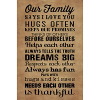 "Canvas Wall Art ""Our Family"" rules, 21.5"" x 32.5 ..."