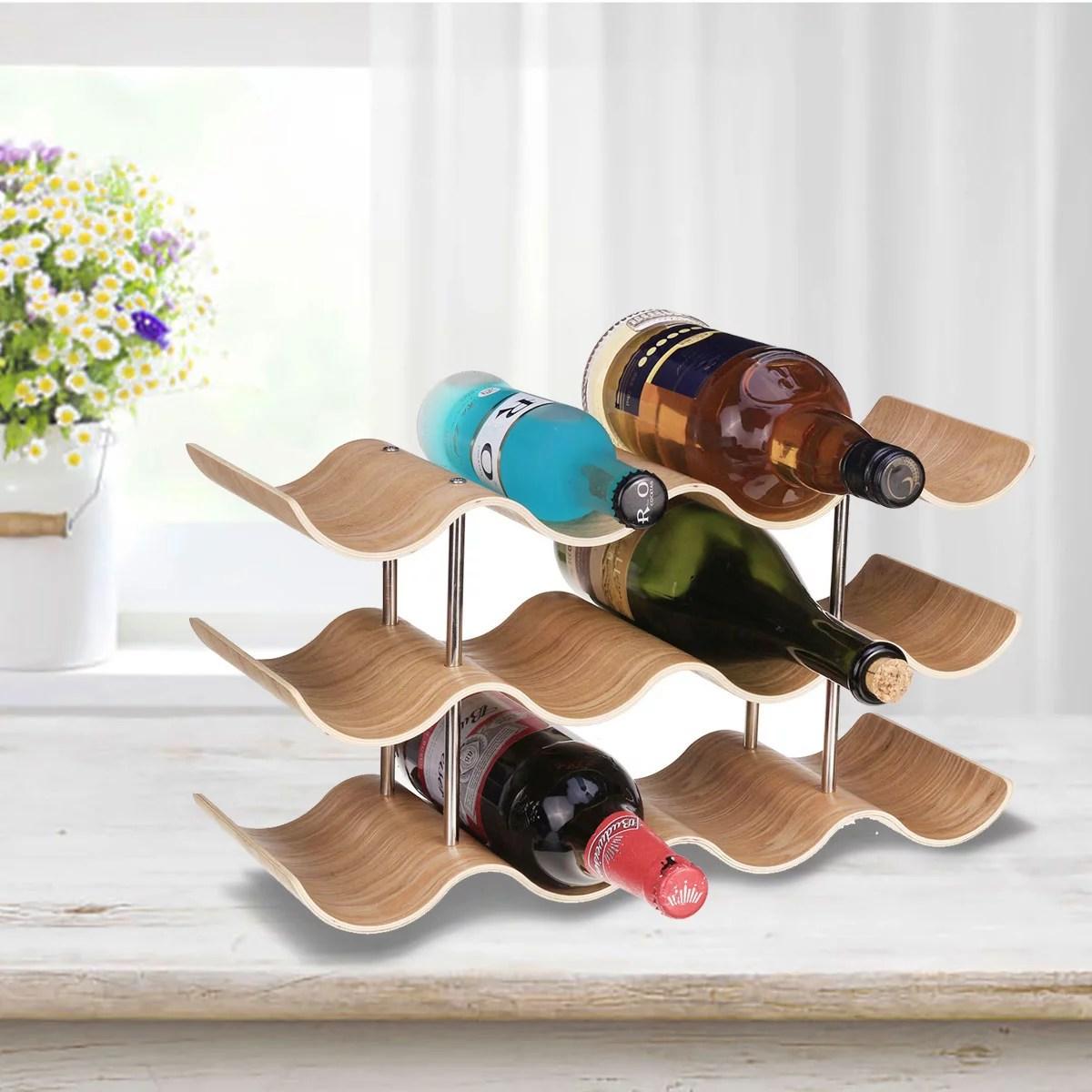 3 4 tier wine rack holder household wine bottle rack creative storage rack display stand countertop kitchen cabinet