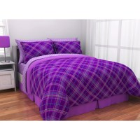 Latitude Purple Plaid Complete Bed in a Bag Bedding Set ...