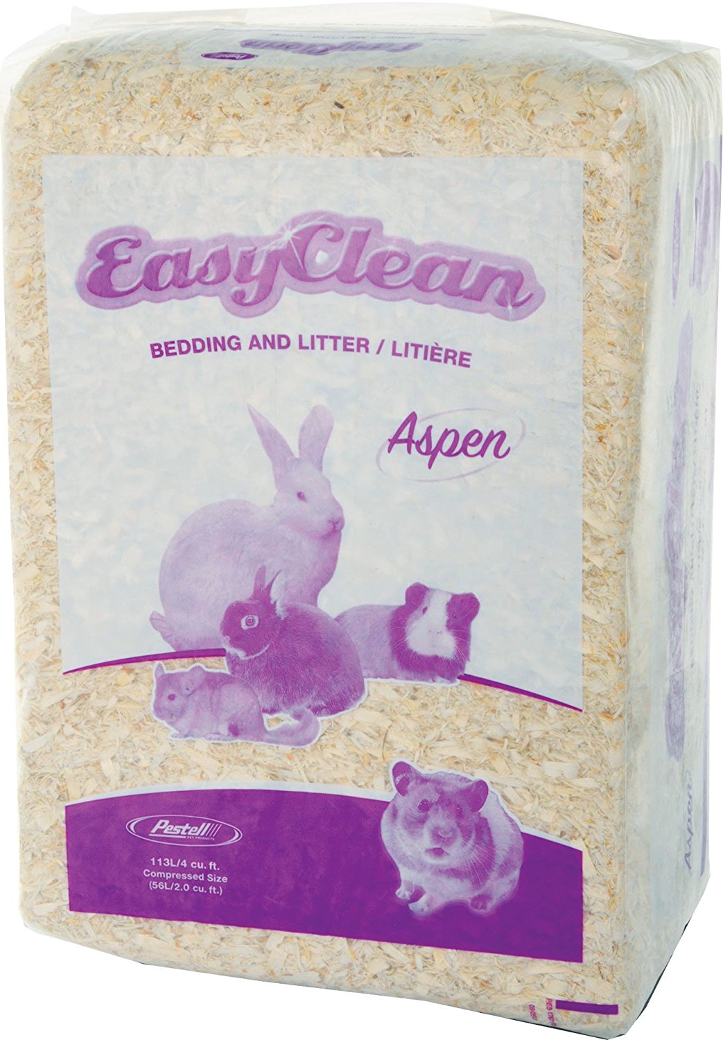 easy clean aspen bedding 113 liters all natural bedding by pestell pet products