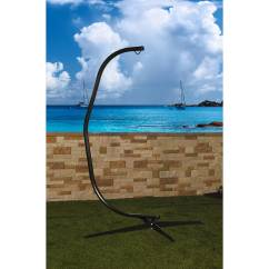 Swing Hammock Chair With Stand Ghost Arm Sunnydaze Durable Steel C For Hanging Chairs And Swings 300 Pound Capacity Walmart Com