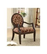 Louis XIV Accent Chair with Giraffe Print - Walmart.com